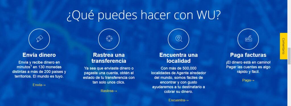 Western Union Ventajas