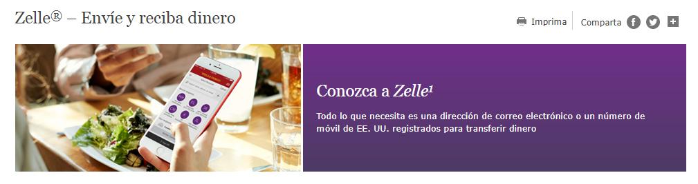 Envía dinero por Zelle
