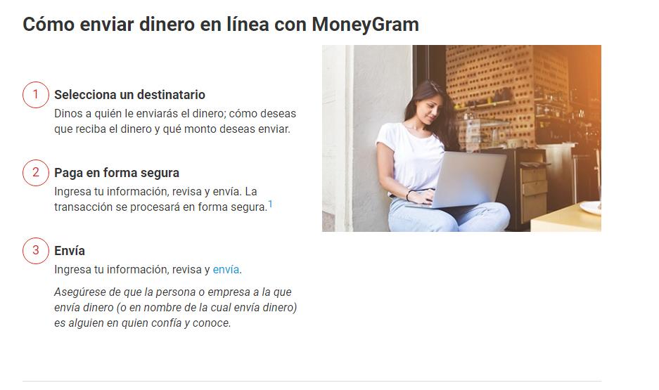 enviar dinero en línea por MoneyGram